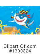 Royalty-Free (RF) Shark Clipart Illustration #1300324