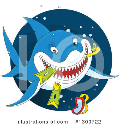 Shark Clipart #1300722 by Alex Bannykh