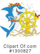 Royalty-Free (RF) Shark Clipart Illustration #1300827