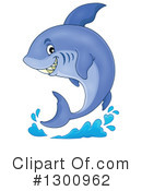Royalty-Free (RF) Shark Clipart Illustration #1300962