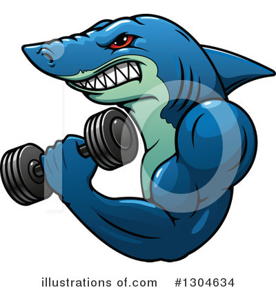 Shark Clipart #1304634 by Vector Tradition SM