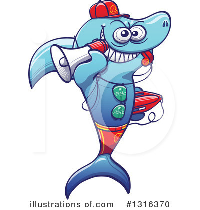 Shark Clipart #1316370 by Zooco