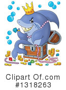 Royalty-Free (RF) Shark Clipart Illustration #1318263