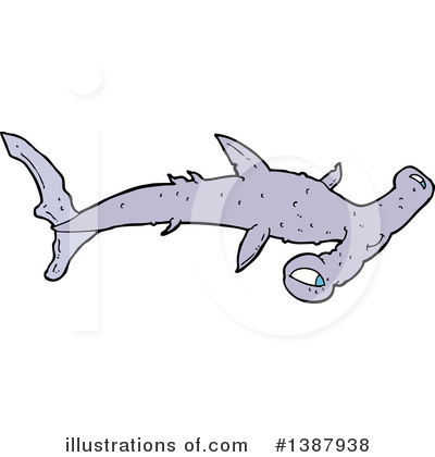 Hammerhead Shark Clipart #1387938 by lineartestpilot