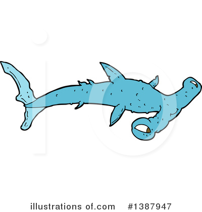 Hammerhead Shark Clipart #1387947 by lineartestpilot