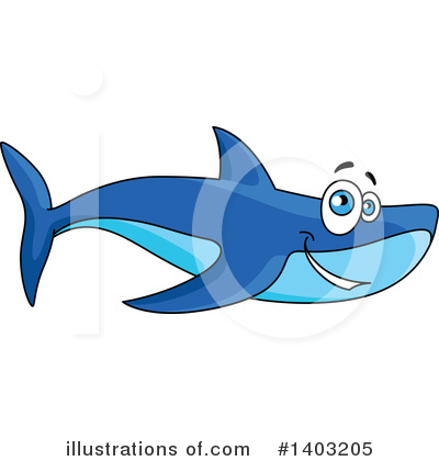 Royalty-Free (RF) Shark Clipart Illustration by Vector Tradition SM - Stock Sample #1403205