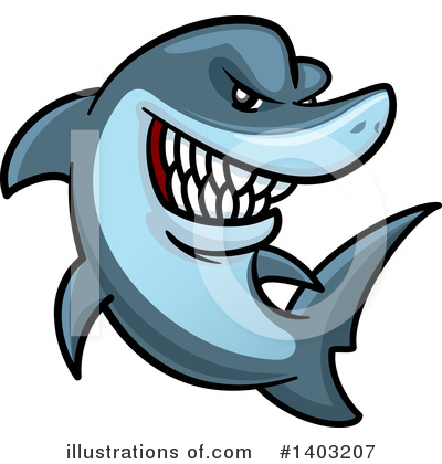 Shark Clipart #1403207 by Vector Tradition SM