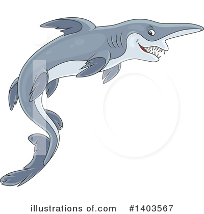 Shark Clipart #1403567 by Alex Bannykh
