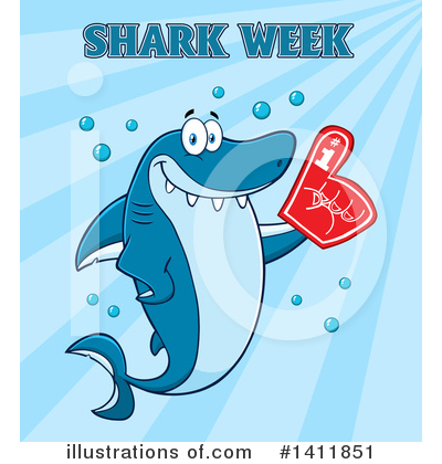 Shark Clipart #1411851 by Hit Toon