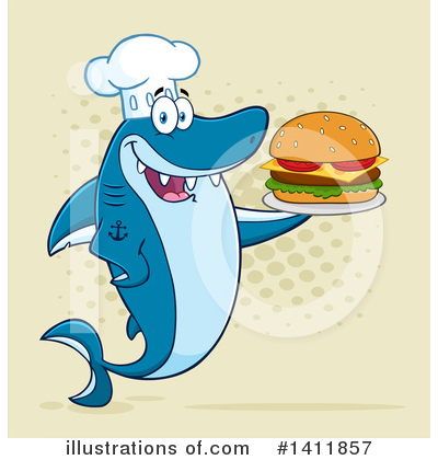 Burger Clipart #1411857 by Hit Toon