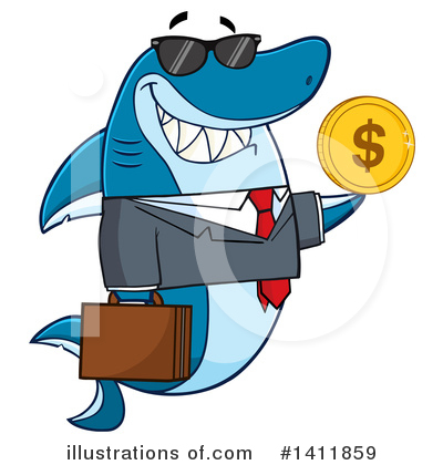 Shark Clipart #1411859 by Hit Toon