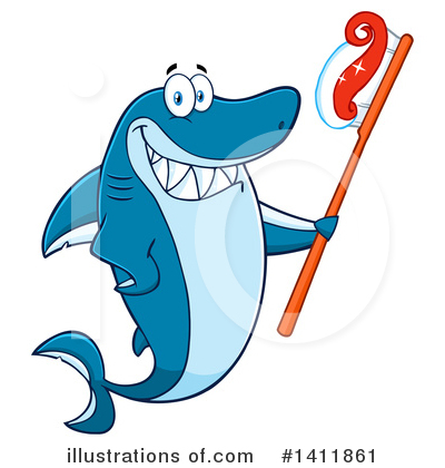 Shark Clipart #1411861 by Hit Toon