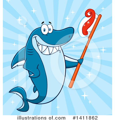 Shark Clipart #1411862 by Hit Toon