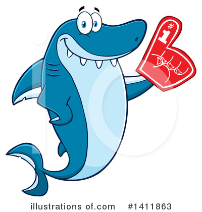 Shark Clipart #1411863 by Hit Toon