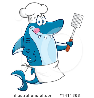 Shark Clipart #1411868 by Hit Toon