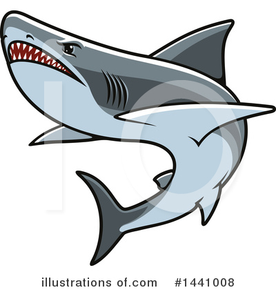 Shark Clipart #1441008 by Vector Tradition SM