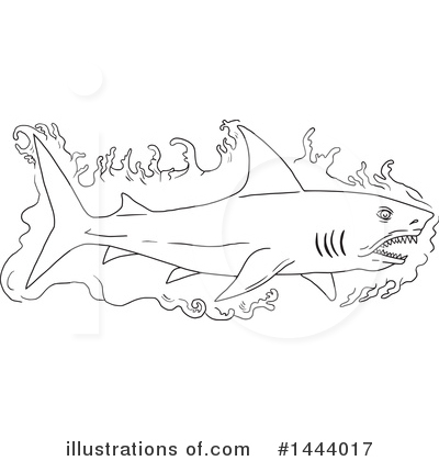 Shark Clipart #1444017 by patrimonio
