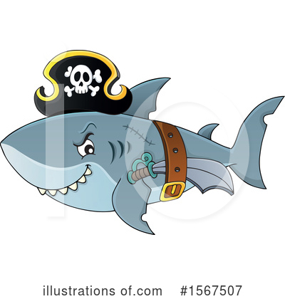 Shark Clipart #1567507 by visekart