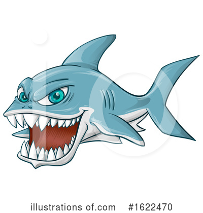 Royalty-Free (RF) Shark Clipart Illustration by Domenico Condello - Stock Sample #1622470