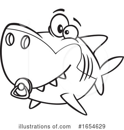 Shark Clipart #1654629 by toonaday