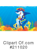 Royalty-Free (RF) Shark Clipart Illustration #211020