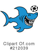 Royalty-Free (RF) Shark Clipart Illustration #212039