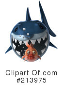 Royalty-Free (RF) Shark Clipart Illustration #213975
