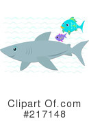 Royalty-Free (RF) Shark Clipart Illustration #217148
