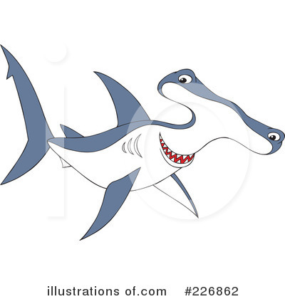 Hammerhead Shark Clipart #226862 by Alex Bannykh
