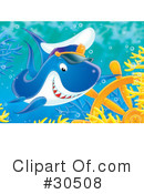 Royalty-Free (RF) shark Clipart Illustration #30508