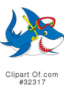 Royalty-Free (RF) Shark Clipart Illustration #32317