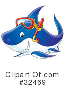 Royalty-Free (RF) Shark Clipart Illustration #32469