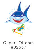 Royalty-Free (RF) Shark Clipart Illustration #32567