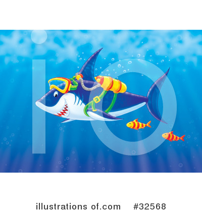 Royalty-Free (RF) Shark Clipart Illustration by Alex Bannykh - Stock Sample #32568