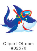 Royalty-Free (RF) Shark Clipart Illustration #32570