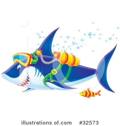 Royalty-Free (RF) Shark Clipart Illustration by Alex Bannykh - Stock Sample #32573
