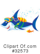 Royalty-Free (RF) Shark Clipart Illustration #32573