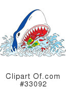 Royalty-Free (RF) shark Clipart Illustration #33092