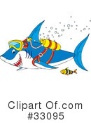 Royalty-Free (RF) shark Clipart Illustration #33095