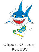 Royalty-Free (RF) Shark Clipart Illustration #33099