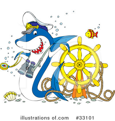 Royalty-Free (RF) Shark Clipart Illustration by Alex Bannykh - Stock Sample #33101