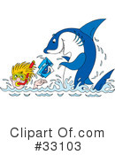 Royalty-Free (RF) Shark Clipart Illustration #33103