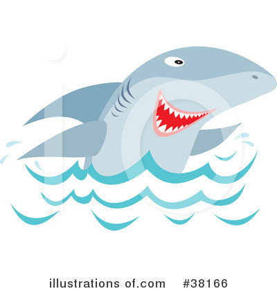 Shark Clipart #38166 by Alex Bannykh