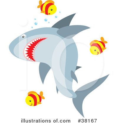 Shark Clipart #38167 by Alex Bannykh
