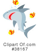 Royalty-Free (RF) Shark Clipart Illustration #38167