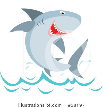 Shark Clipart #38197 by Alex Bannykh