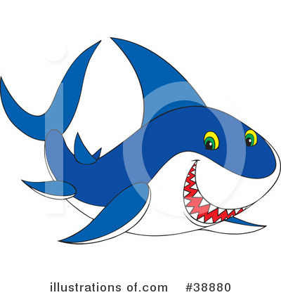Shark Clipart #38880 by Alex Bannykh