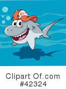 Royalty-Free (RF) shark Clipart Illustration #42324