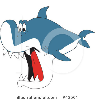 Shark Clipart #42561 by Dennis Holmes Designs