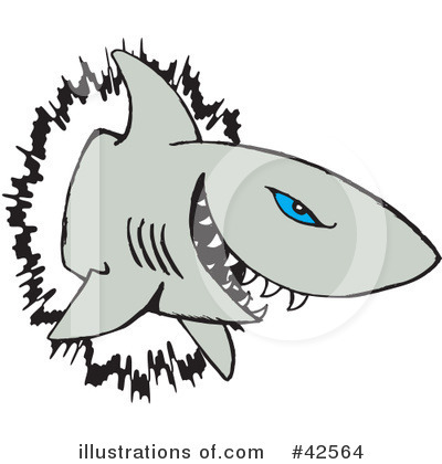 Shark Clipart #42564 by Dennis Holmes Designs